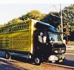 Vrachtwagen Kees Talen woning ontruiming